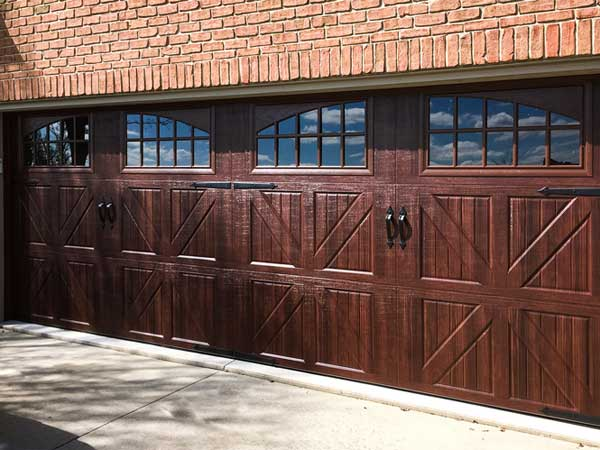 Double Wide Carriage House Garage Door